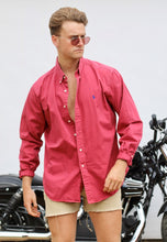 Ralph Lauren USA Amaranth Red Vintage Shirt