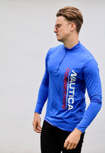 Nautica Competition 1/4 Zip USA Retro Cycling Sweatshirt