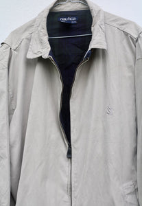 Nautica USA Slate White Harrington Jacket