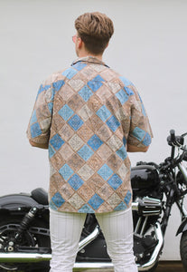 St Johns Bay Mosaic Vintage Short Sleeve Shirt