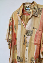 World Traveller Stunning USA 90s Sunset Cuban Shirt
