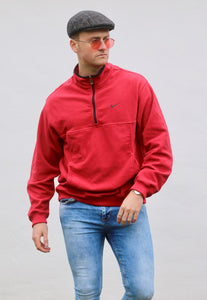 Nike USA 1/4 Zip Heritage Fleece Sweatshirt