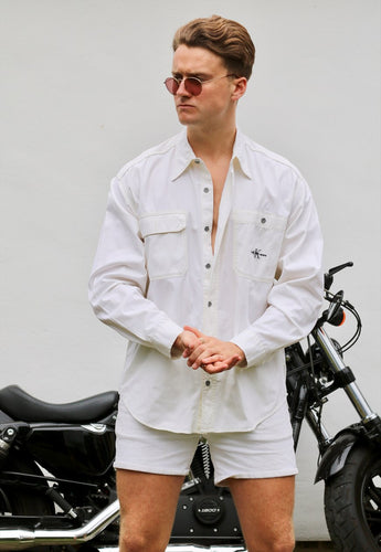 Calvin Klein USA White Denim Vintage Shirt