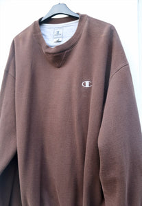 Champion USA Minimalist Chocolate Vintage Sweatshirt