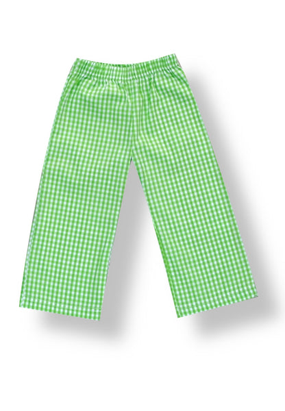 Green Gingham Pants