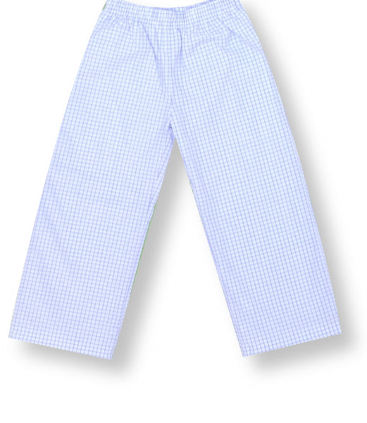 Blue Windopane Pants