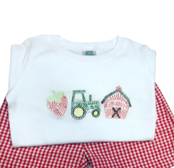 Scribble Strawberry Farm Shirt