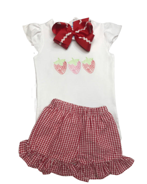 Strawberry Scirbble Trio Shirt