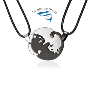 Collier Ying Yang Chat