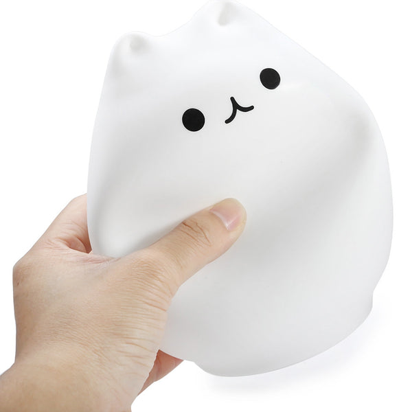 Veilleuse lampe chat tactile pressable