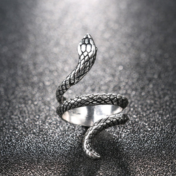 Bague serpent dos