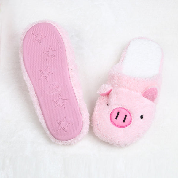 Chaussons cochon rose