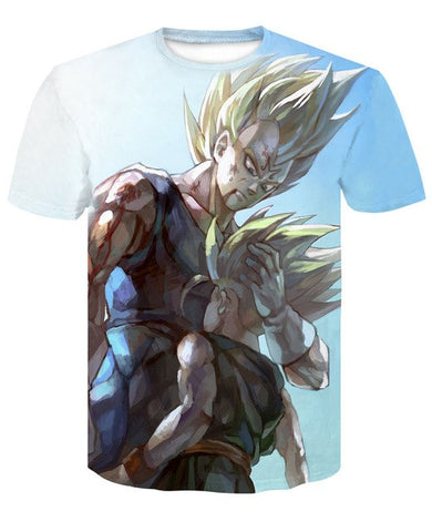 Tshirt Dragon Ball Z Vegeta et Trunks