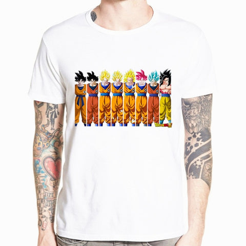 T-Shirt Dragon Ball Goku Transformations