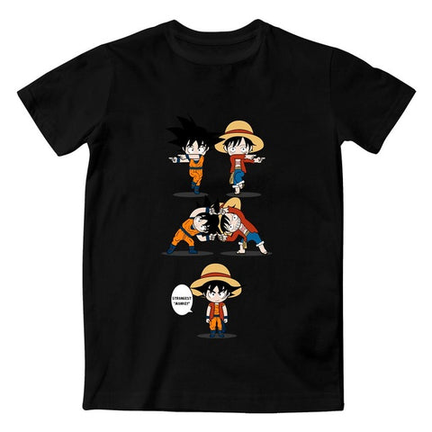 Tshirt Fusion Goku et Luffy - Dragon Ball - One Piece