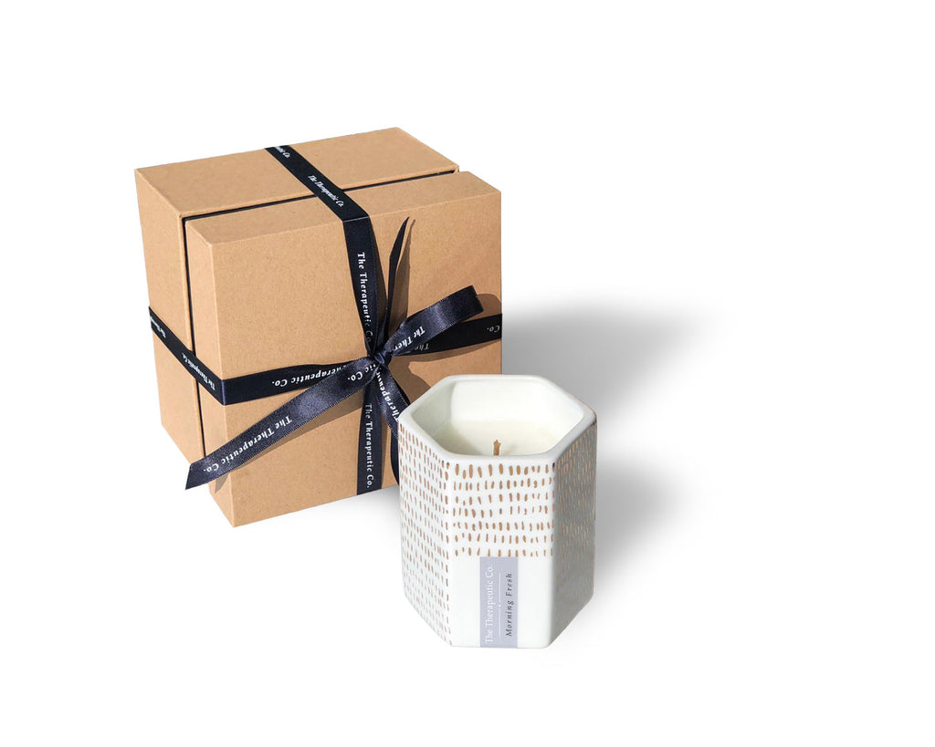 Jovie Jar aromatherapy beeswax candles - Morning fresh is uplifting and suitable for your yoga sessions in the morning. This luxurious candle adds a touch of elegance to your home.