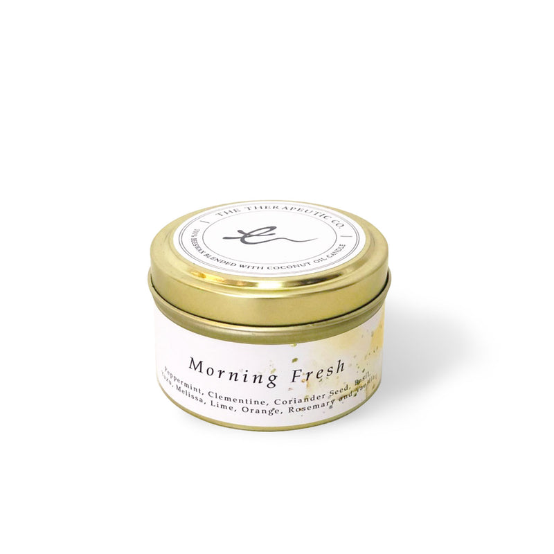 Aromatherapy beeswax candles - Morning fresh is uplifting and suitable for your yoga sessions in the morning well-blended with a mix of Peppermint, Clementine, Coriander Seed, Basil, Yuzu, Melissa, Lime Orange, Rosemary and Vanilla.