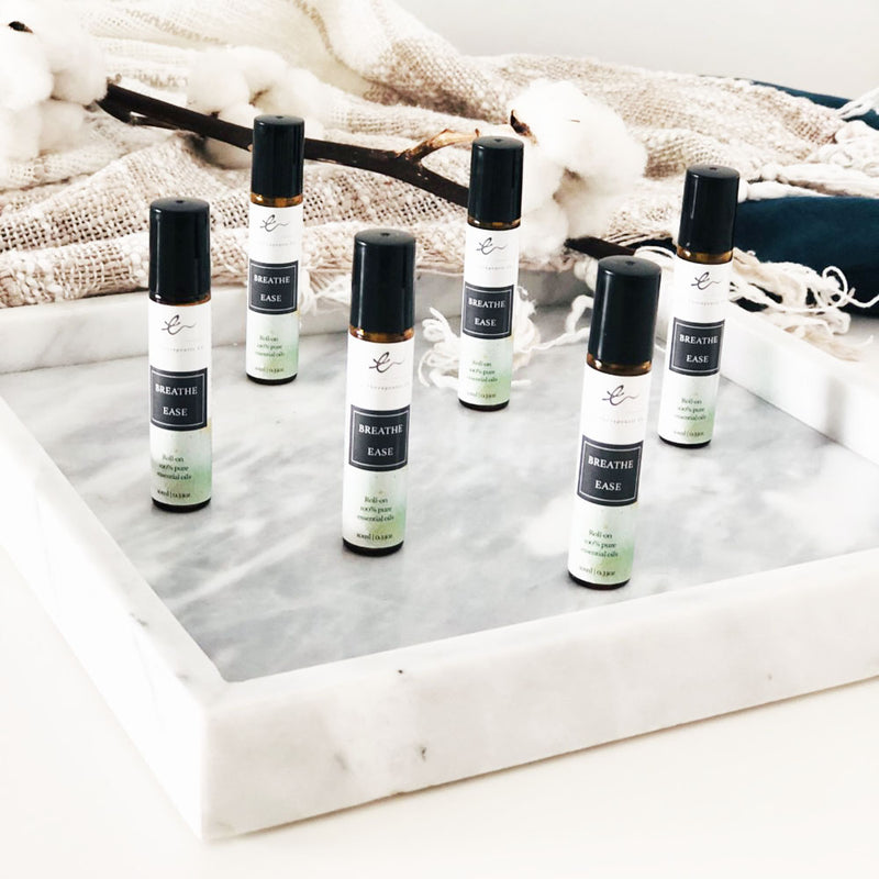 Aromatherapy roll-ons for nose allergies
