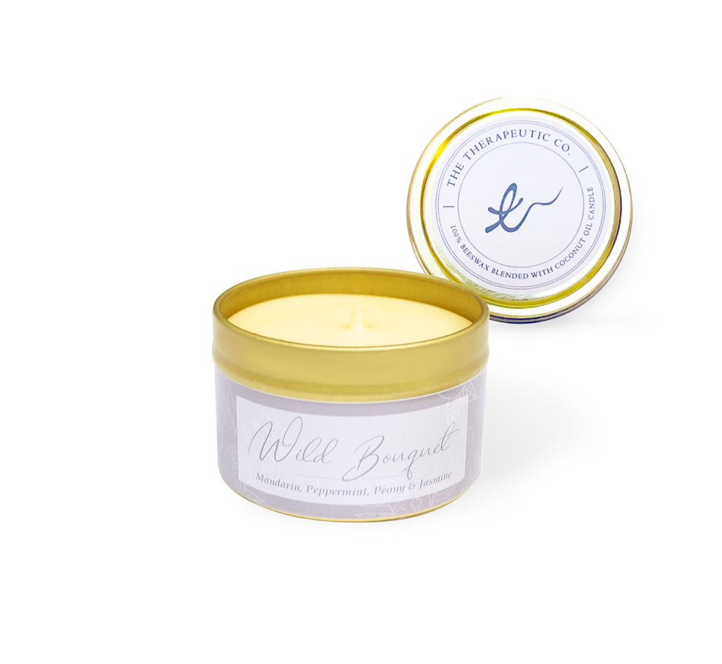 Aromatherapy beeswax candle. A clean scent with bright citrus notes from the juicy mandarin and the powerful cool aroma of the peppermint, that is intertwined with the florals of peony, violet and jasmine. Patchouli and amber complete the scent by adding earthy richness. The perfect candle for invigorating your mind and boosting your mood. All our candles fragrances are crafted and infused with essential oils.  Long lasting burn, up to 50hrs burning time Essentials oils achieve subtle soothing scents with t