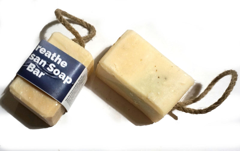 Breathe Cold Process Soap on a rope