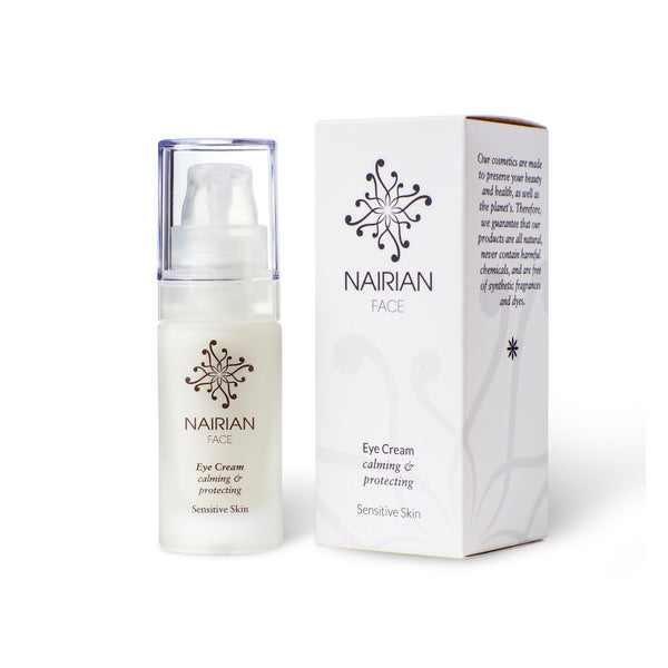 Nairian Eye Cream for Sensitive Skin, Calming & Protecting Skin Care (15 ml Bottle); Brightening Eye Cream w/All-Natural Ingredients