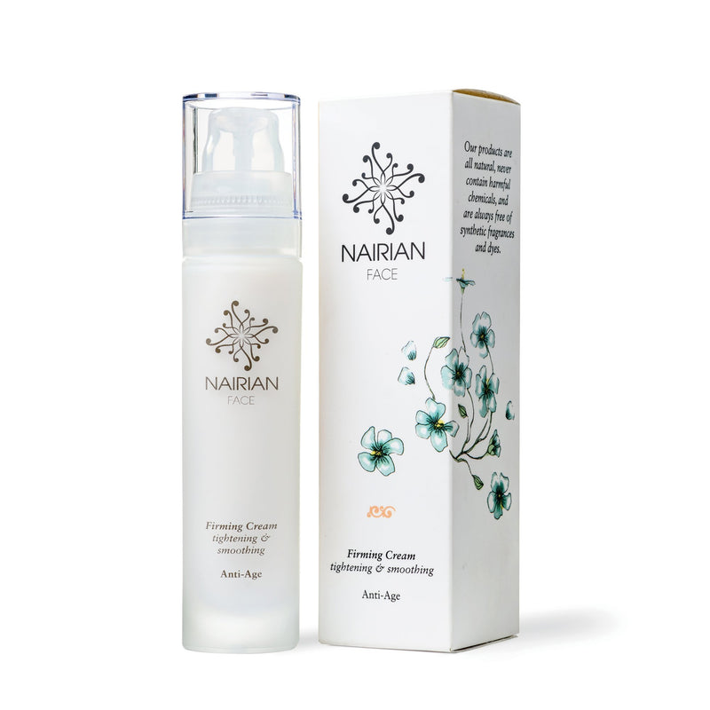 Nairian Firming Cream, Smoothing Skin Care (50 ml Bottle); Collagen Cream for Loose, Sagging Skin on Face, Neck and Décolleté w/All-Natural Ingredients