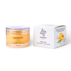 Nairian Night Serum for Face, Nourishing & Rejuvenating Skin Care (30 ml Tub); Hydrating and Brightening Anti-Aging Cream for Advanced Night Care w/All-Natural Ingredients