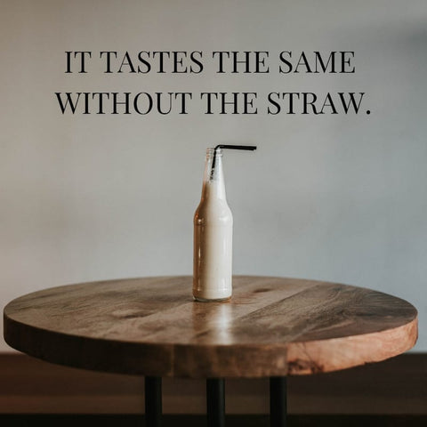 reduce plastic waste by not using straws