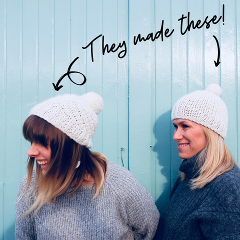 image of two women wearing hats with heading they made these