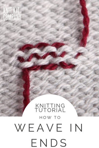 how to weave in your ends in knitting
