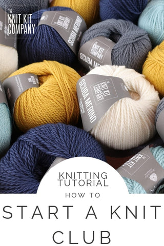 how to start a knit club blog