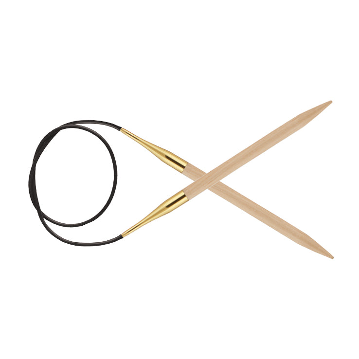 8.0mm Circular Knitting Needles | KnitPro Basix Birch | 100cm Cable