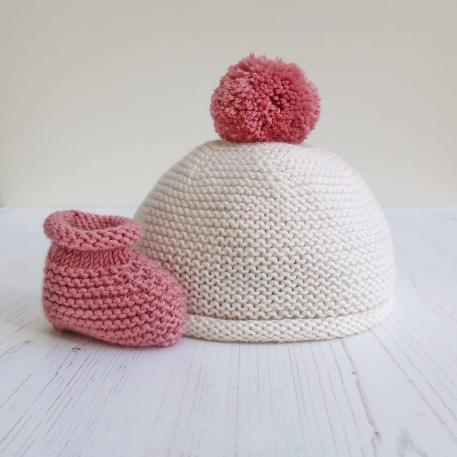 Beginners Knit Kit - The Cairngorm Beanie & Bootie set