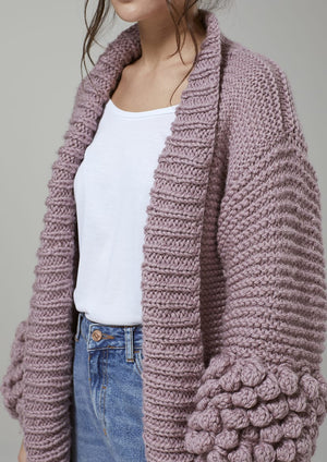 Digital Pattern: Haze Bobble Cardigan by Mode at Rowan
