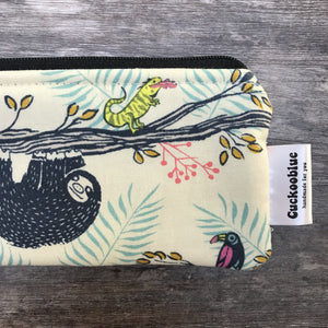 Handmade Knitting Needle Storage Bag by Cuckoo Blue - Sloth Love