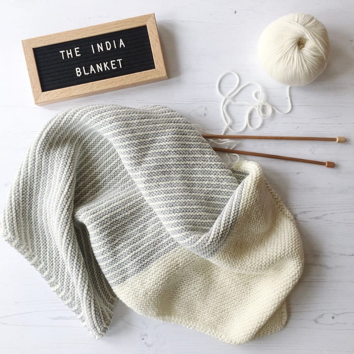 India Baby Blanket Knit Kit