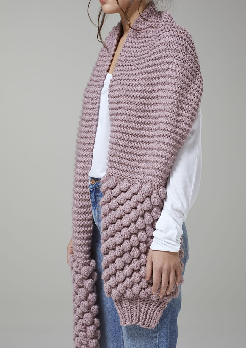 Digital Pattern: Mist Bobble Scarf by Mode at Rowan