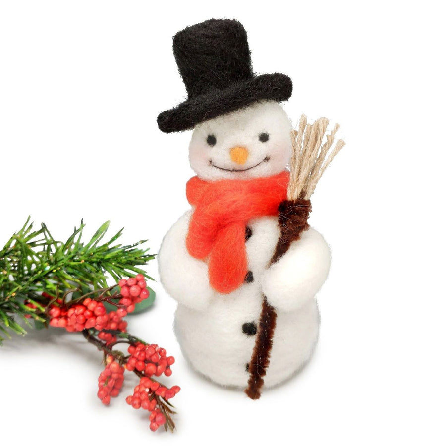 Festive Snowman Needle Felting Kit by The Crafty Kit Co