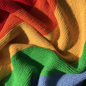 Rainbow Baby Blanket Knit Kit