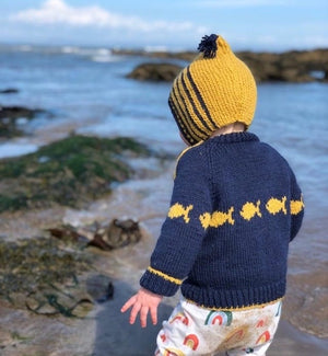 The Tiddler - Jane's Scuba Merino Baby & Toddler Jumper Knit Kit