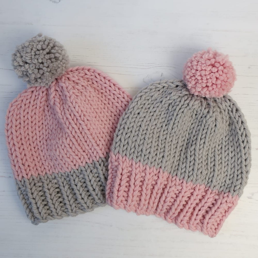 URCHIN DOUBLE / MINI ME HAT KNIT KIT