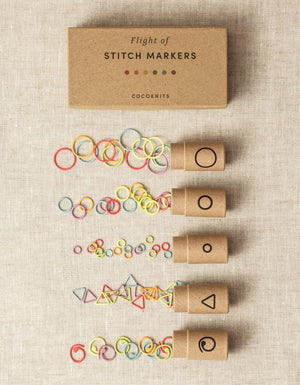 Coloured Flight of Stitch Markers by Cocoknits