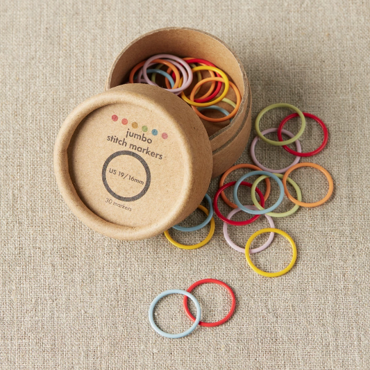 Coloured Ring Jumbo Stitch Markers by Cocoknits