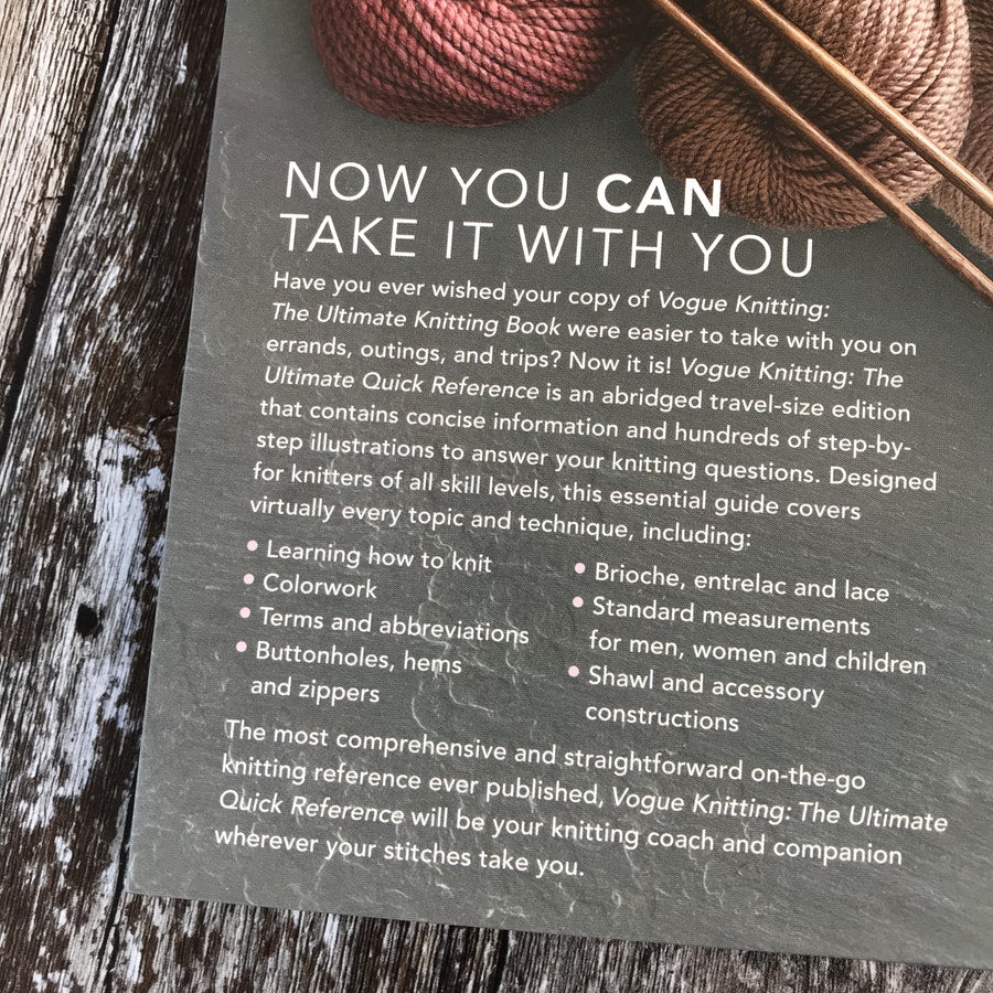 Vogue Knitting | The Ultimate Quick Reference Book