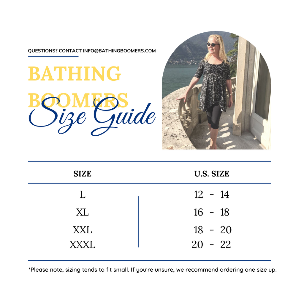 Bathing Boomers Size Guide