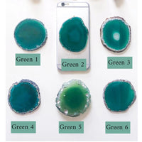 Gemstone Phone Grips- Green Waters