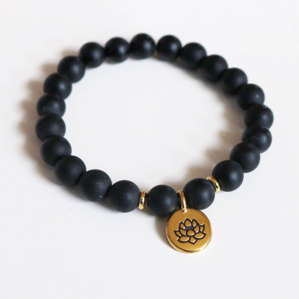 Matte Black Onyx Intention Bracelet