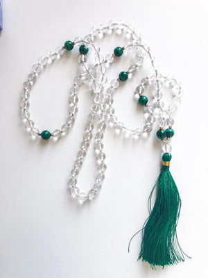 108 Quartz Mala Necklace