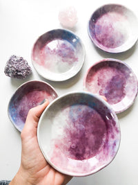 Pink and Purple Bali Bowl. Ceramic Bowl. Smudge Bowl. Sunrise Inspired Pottery. Handmade Porcelain Bowl.