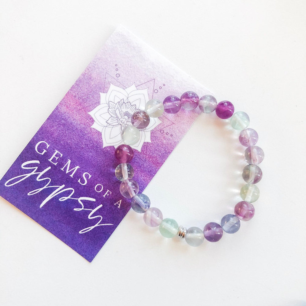 Fluorite Intention Bracelet